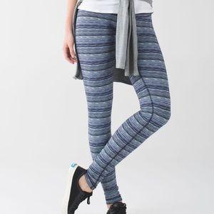 LULULEMON Wunder Under Pants size 4 Space Blue